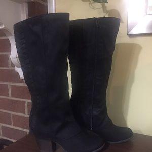 Fergalicious women's knee high boots NWT